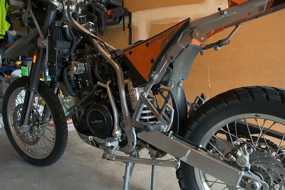 KTM exhaust swap