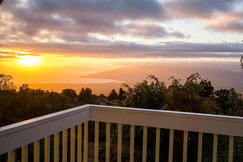 Sunrise from Kula, Maui, Hawaii