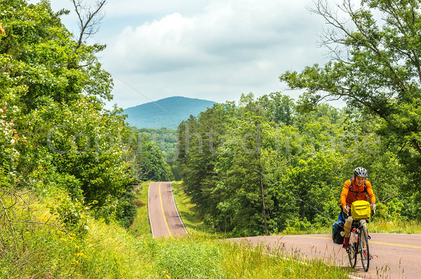 Cross-country cyclists - Johnson's Shut-Ins and Centerville