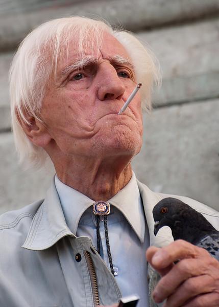 Old gentleman at Notre Dame