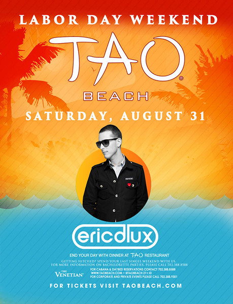 Eric D Lux @ TAO Beach 8.31.13