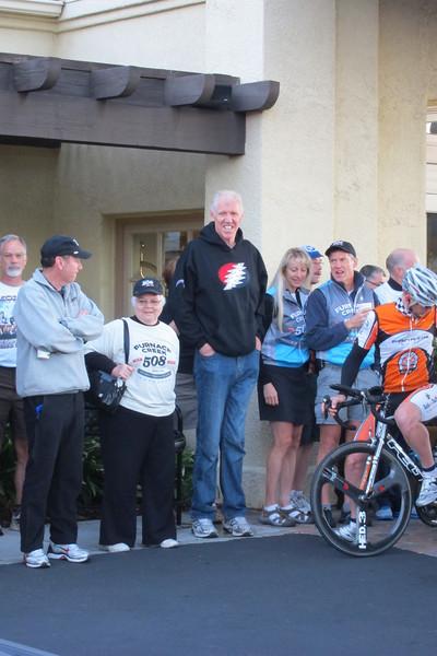 Bill Walton (center) is the 508's biggest fan.
