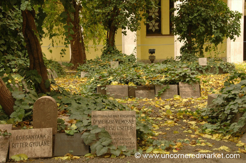 Tombstones at Synagogue - Budapest, Hungary
