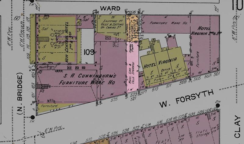 W.P. Sumner Company 1913 Sanborn map