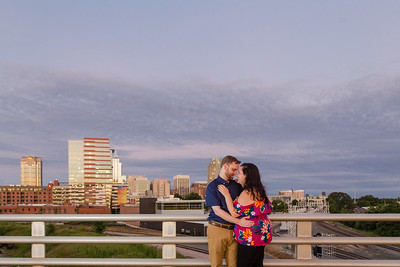 Emily & James | A Colorful & Sweet Downtown Raleigh Engagement