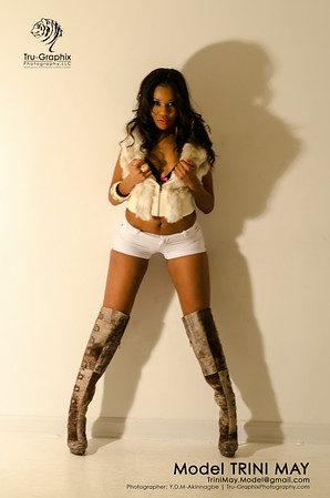 Model: Trini May - Snowy White and High Boots