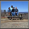 2018-04-21 Caper Cornwal Dump Mohawk Mountain V(124) Mom Dad Sandy Tony Martha Kathy Picnic Table