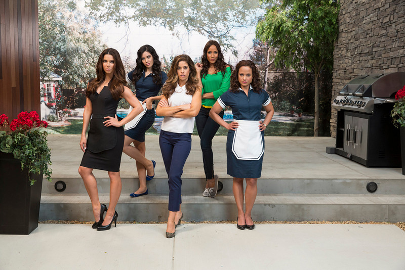 . Devious Maids (L to R) Roselyn Sanchez, Edy Ganem, Ana Ortiz, Dania Ramirez and Judy Reyes star in the new Lifetime series Devious Maids, airing Sundays at 10pm ET/PT, beginning June 23rd on Lifetime.