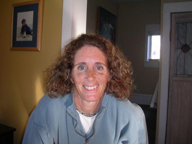 Hostess Christa smiles for the camera.