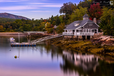 House Reflecting in Seal Harbor, Maine