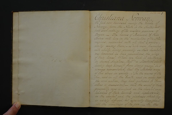 1825 March College Notebook Notes