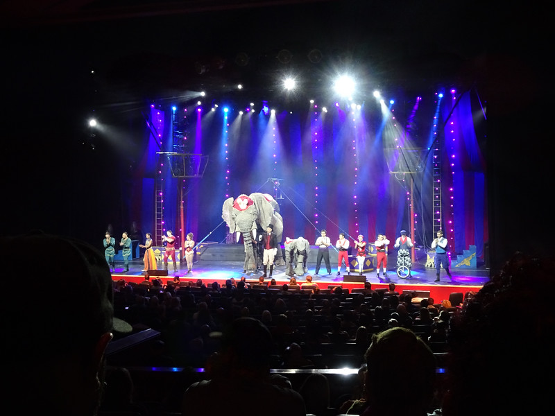 The show for the evening was Circus 1903.  An entertaining production.