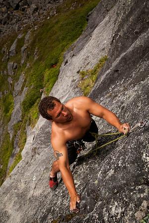 Climbing Pulp Culture Wall