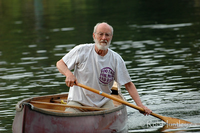Friend canoeing on MacGregor Lake in Quebec. (Not for Sale - no model release) © Rob Huntley