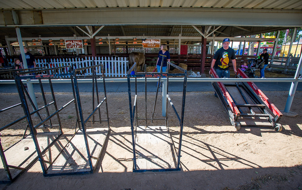 . Preparations are made for opening day of the San Bernardino County Fair in Victorville, Friday,  May 24 2013. (Eric Reed/The Sun)