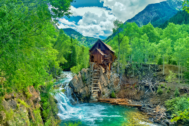 One of the most photographed scenes in Colorado: the Crystal Mill close to Carbondale