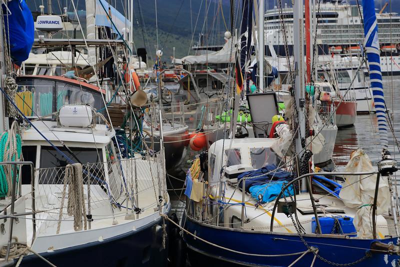 some very serious sailing kit, Ushuaia marina Jan 2013