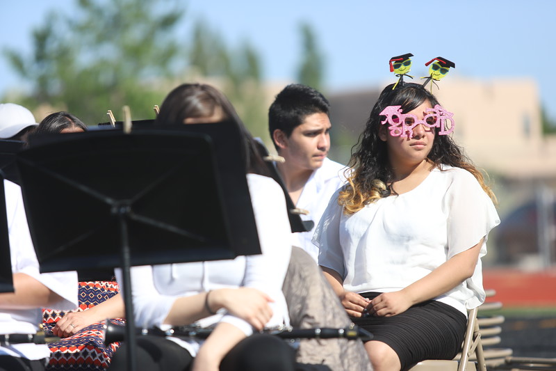 Capital High School's Class of 2018 during their Commencement Ceremony at Jaguar Field on May 25, 2018. Gabriela Campos/The New Mexican