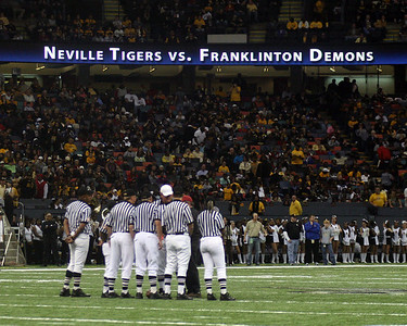 LOUISIANA HIGH SCHOOL FOOTBALL 2009: The LHSAA  Class 4A State Championships in the Louisiana Superdome.  Neville vs. Franklinton.  Neville wins