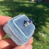 2.08ctw Sapphire and Diamond Ring, GIA No-Heat 6