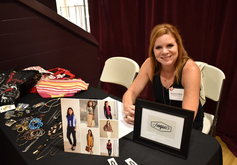Kimberly Koenig, owner of Boutique Rogue, waits to help participants.  Photo by Julia Wiese, My Edmonds News