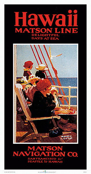 053: Matson Navigation Company travel brochure cover. Ca. 1936. Order it as print or poster size.