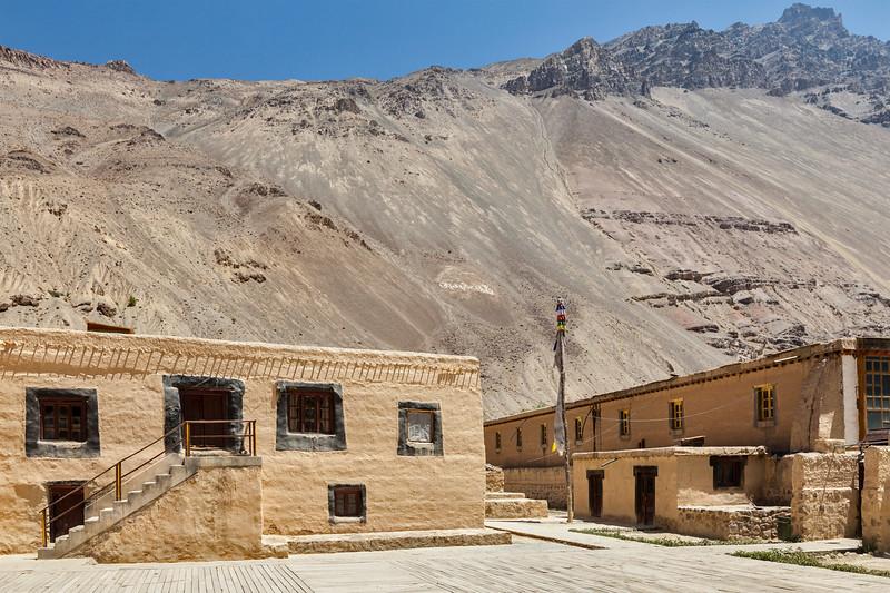 Tabo monastery of Tibetan Buddhist Gelug sect. Tabo, Spiti valley, Himachal Pradesh, India