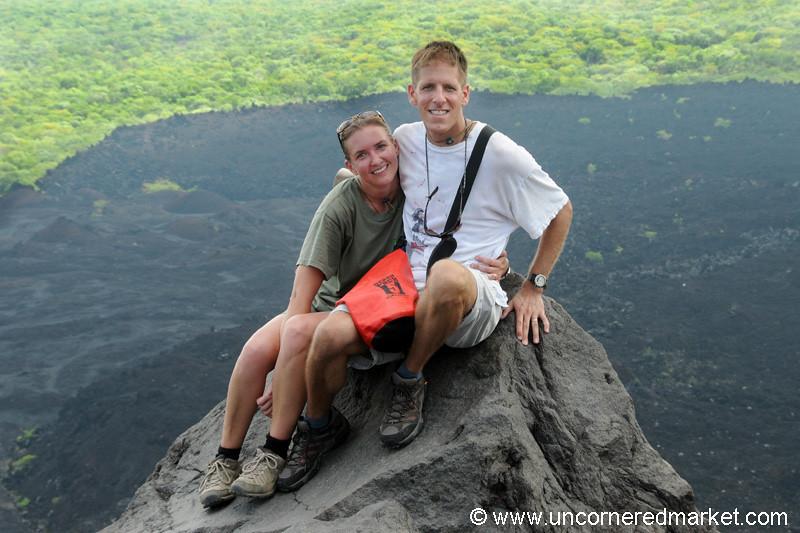 Audrey and Dan at Cerro Negro Volcano, Nicaragua