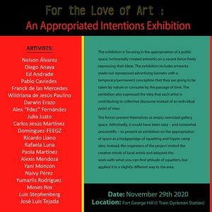 For the Love of Art : An Appropriated Intentions Exhibition
