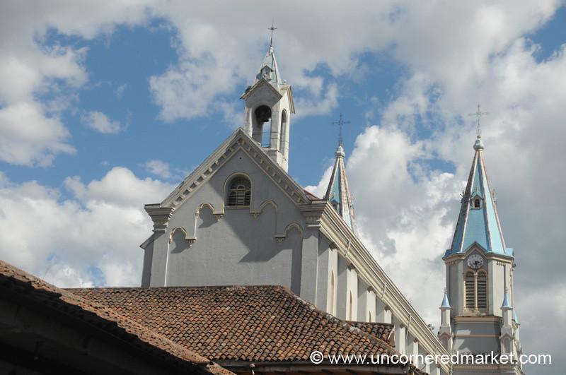 Colorful Church in Cuenca, Ecuador