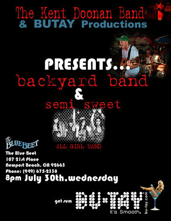 Backyard Band & Semi Sweet at the Blue Beet Tonight! (073008)
