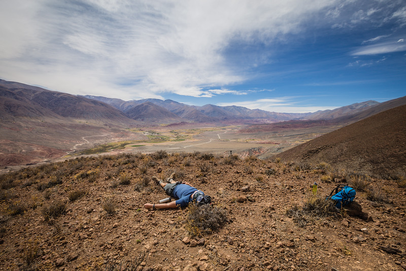 Hiker in Argentina