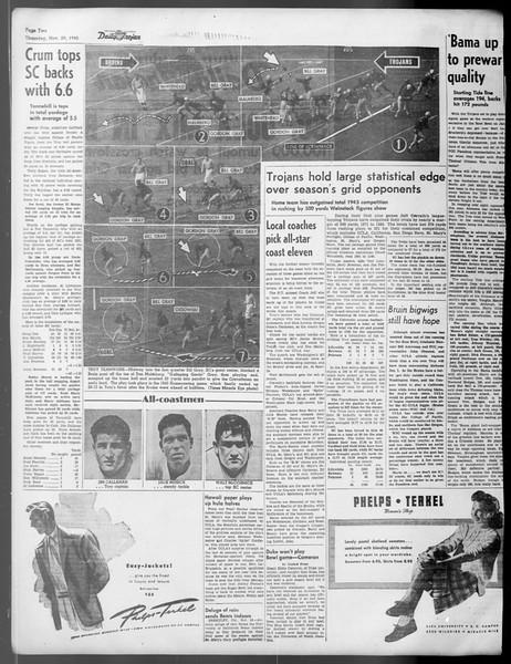 Daily Trojan, Vol. 37, No. 21, November 30, 1945
