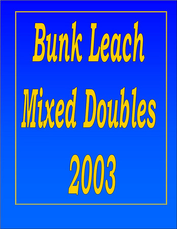 2003 Bunk Leach Mixed Doubles - July 25, 2003
