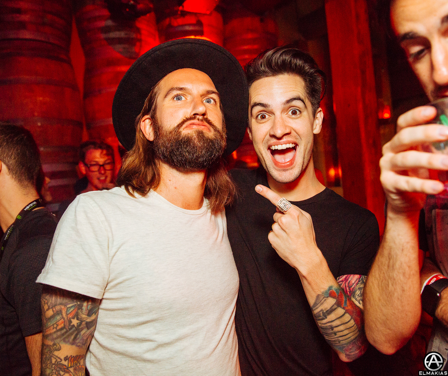 Keith Buckley of Every Time I Die and Brendon Urie of Panic! At The Disco at the APMAs 2015 by Adam Elmakias