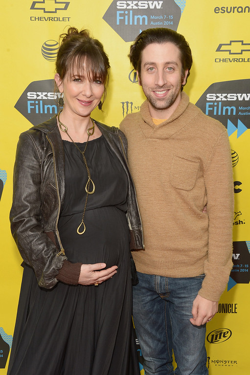 """. Co-director Jocelyn Towne and actor/co-director Simon Helberg attend the \""""We\'ll Never Have Paris\"""" premiere during the 2014 SXSW Music, Film + Interactive Festival at the Topfer Theatre at ZACH on March 10, 2014 in Austin, Texas.  (Photo by Michael Loccisano/Getty Images for SXSW)"""