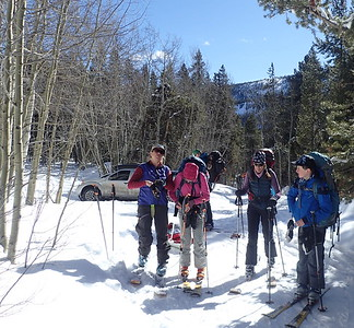 Seventh Grade winter hut trip second group 201819