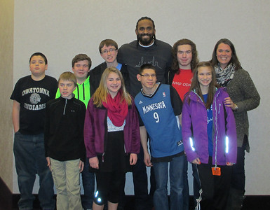 Robocob With Ronny Turiaf from MN Timberwolves