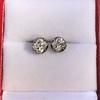 1.73ctw Georgian Peruzzi Cut Diamond Collet Stud Earrings 19