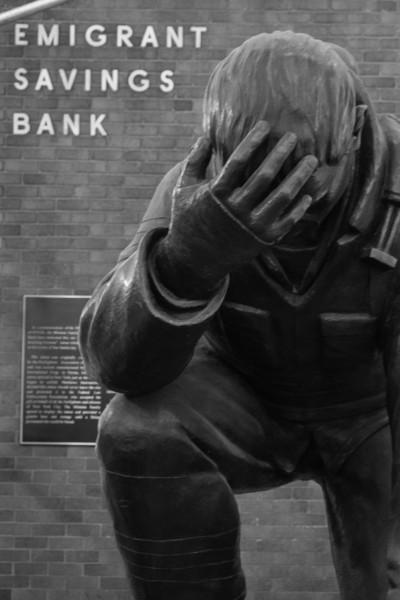 Emigrant Bank statue