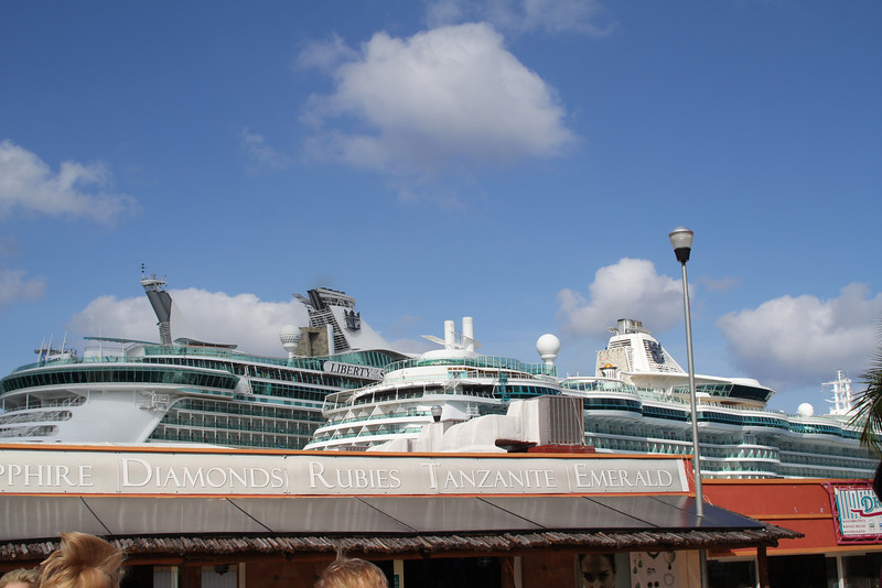 shops at the port controlled by the cruise ships