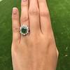 4.38ctw Art Deco Russian Demantoid & Diamond Cluster Ring 11