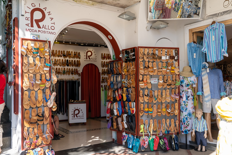 Hand-made sandals in Positano