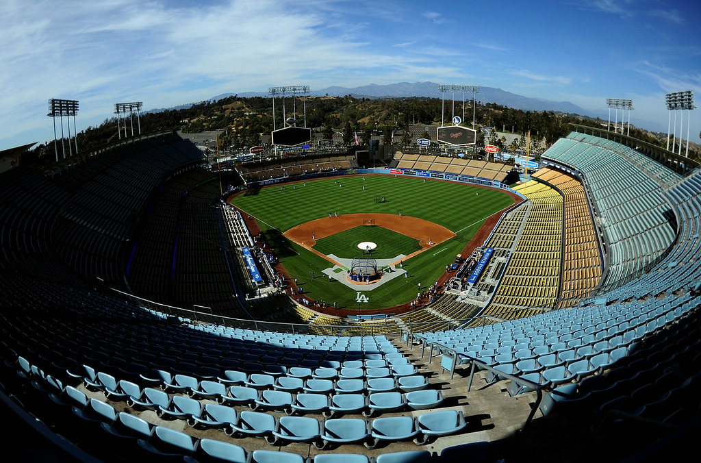 . A empty stadium prior to a Major league baseball game between the San Diego Padres and the Los Angeles Dodgers on Saturday, July 12, 2014 in Los Angeles.   (Keith Birmingham/Pasadena Star-News)
