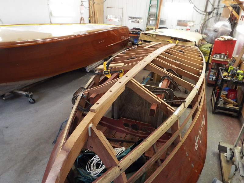 Another view of the new keel ready to be glued in place.