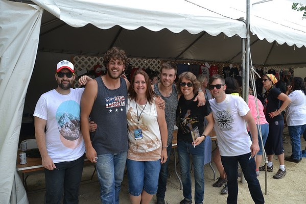 Melissa & Mark with Gunner and the Grizzly boys