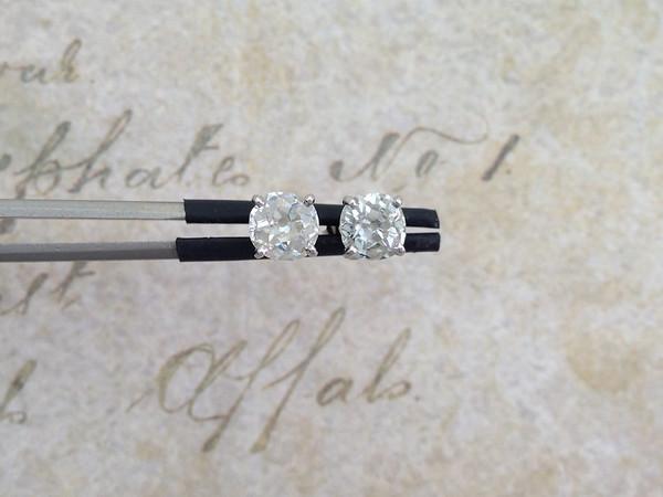1.81ctw (est.) Old Mine Cut Diamond Earrings