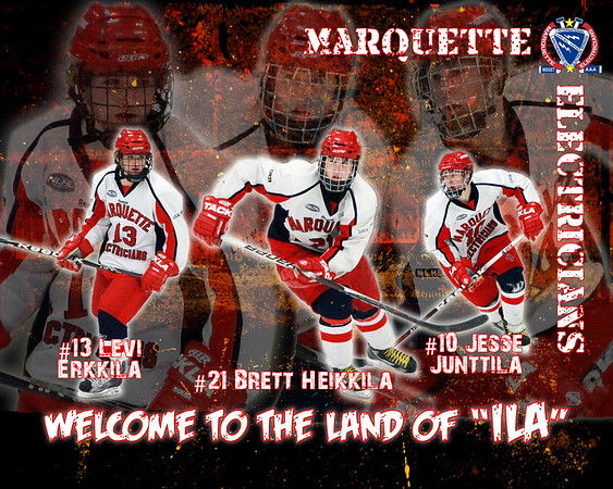 Marquette Electricians Midget AAA Hockey Posters 2011-2012