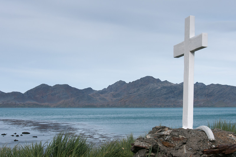 Shackleton's Cross in Grytviken