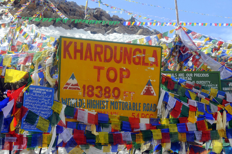 Khardung-La pass from Leh to Nubra Valley, Ladakh